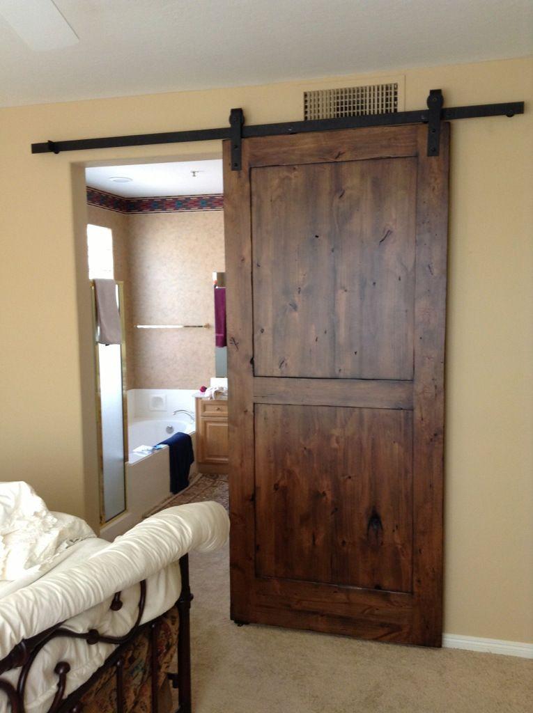 Distressed Knotty Alder Sliding Barn Door Barn Doors