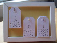 kalenderkitsch im rahmen freddas kram pinterest kalender selber machen geschenkanh nger. Black Bedroom Furniture Sets. Home Design Ideas