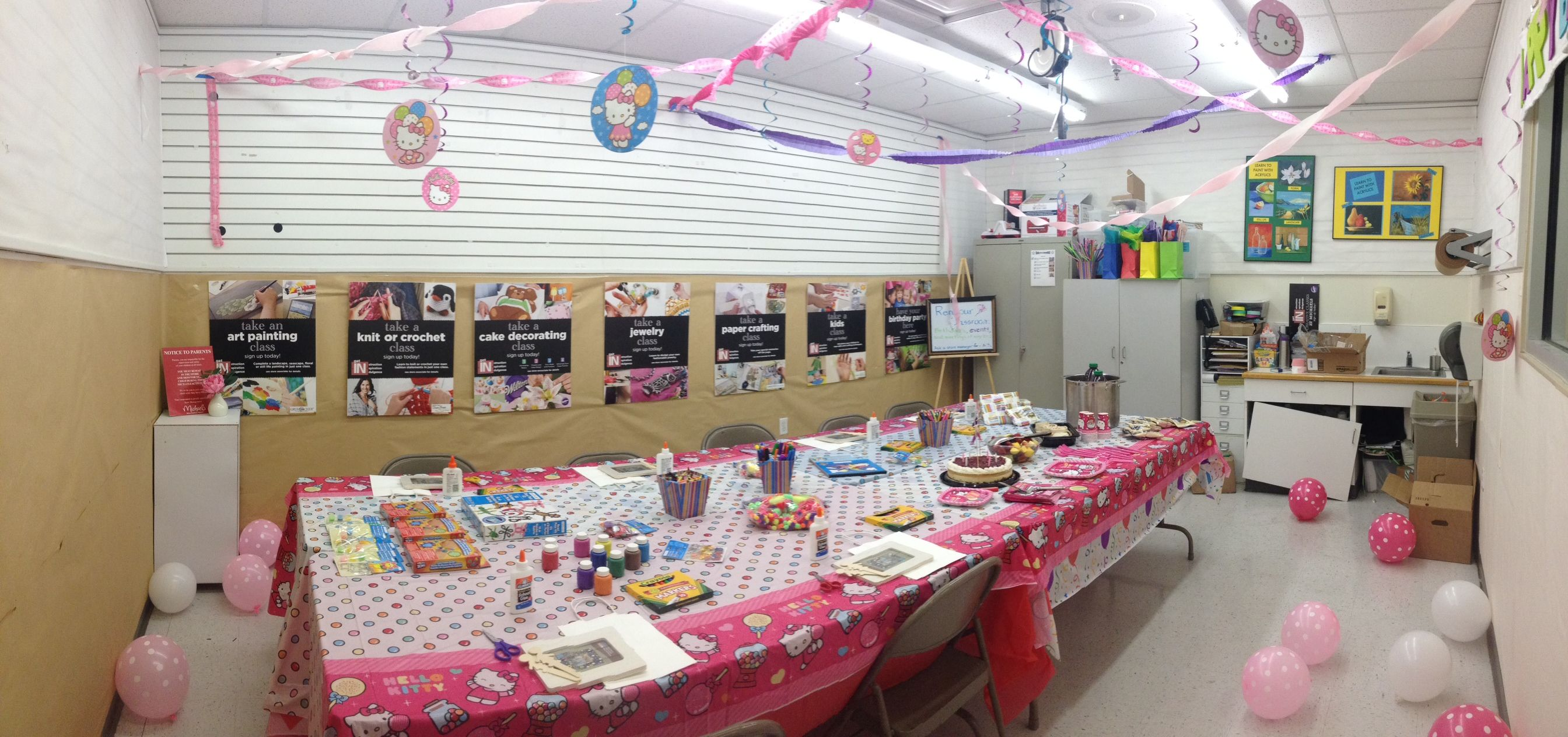 Hello Kitty Themed Arts Crafts Birthday Party At Michael S Craft