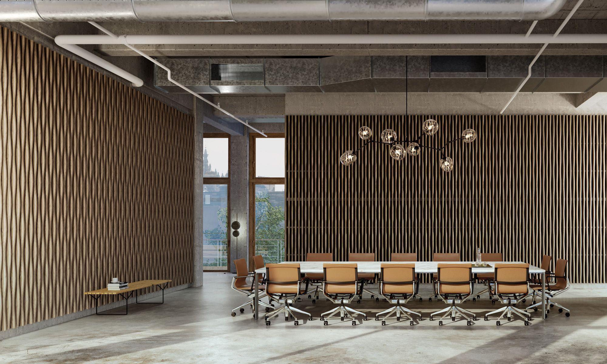 bamboo wave linea 3d habillage acoustiques en bois solution architecturale exterieur interieur pour