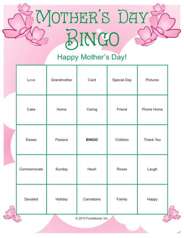 mother 39 s day printables more occassions mother 39 s day games mothersday mother 39 s day games. Black Bedroom Furniture Sets. Home Design Ideas