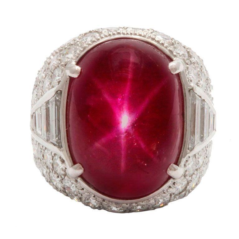 Magnificent Star Burma Ruby Diamond Art Deco Ring 1stdibs Com Art Deco Ring Art Deco Jewelry Deco Jewelry