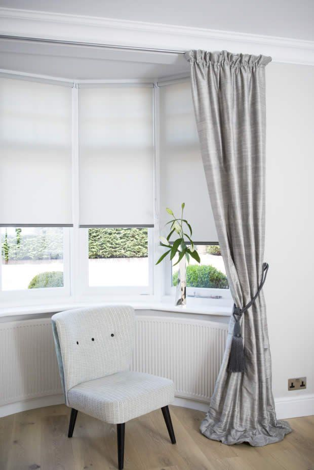 Curtains Amp Blinds Bay Windows In 2020 Bay Window Living