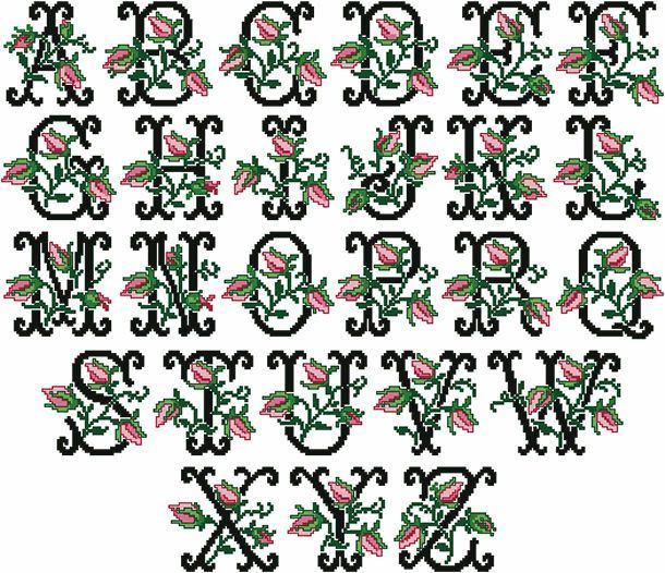 """Old Fashioned Charm machine embroidery alphabet 4""""x4"""""""