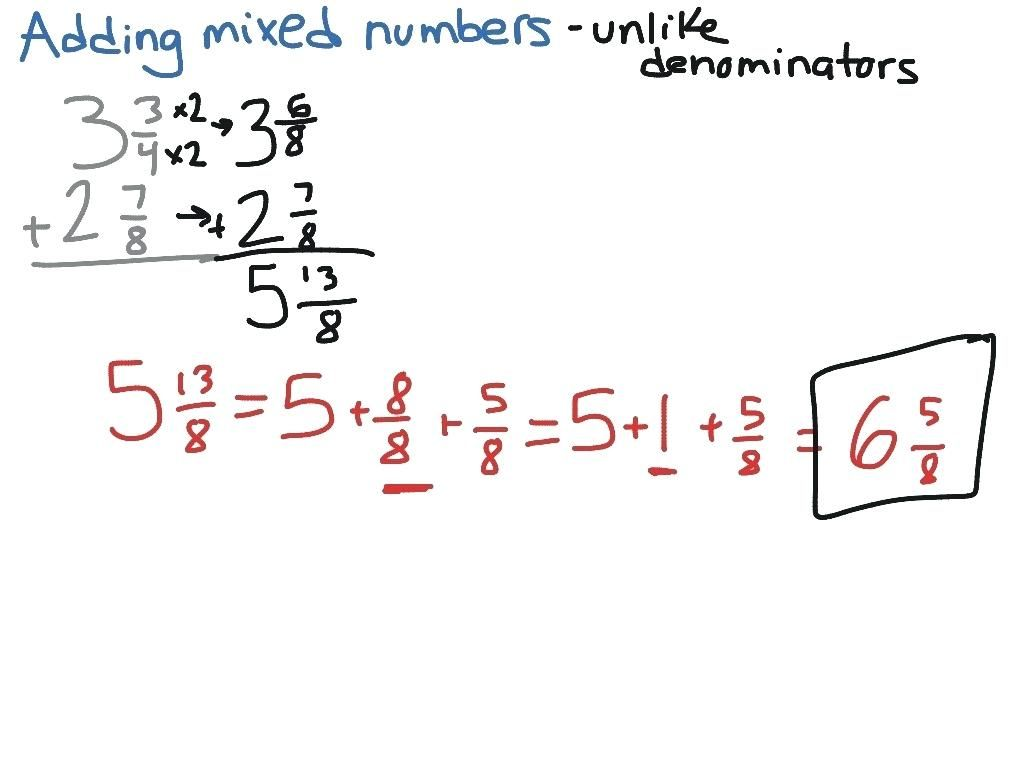 Adding Fractions Worksheets Subtracting Mixed Fractions