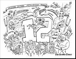 super bowl trophy coloring pages seahawks colorsseahawks fansseattle
