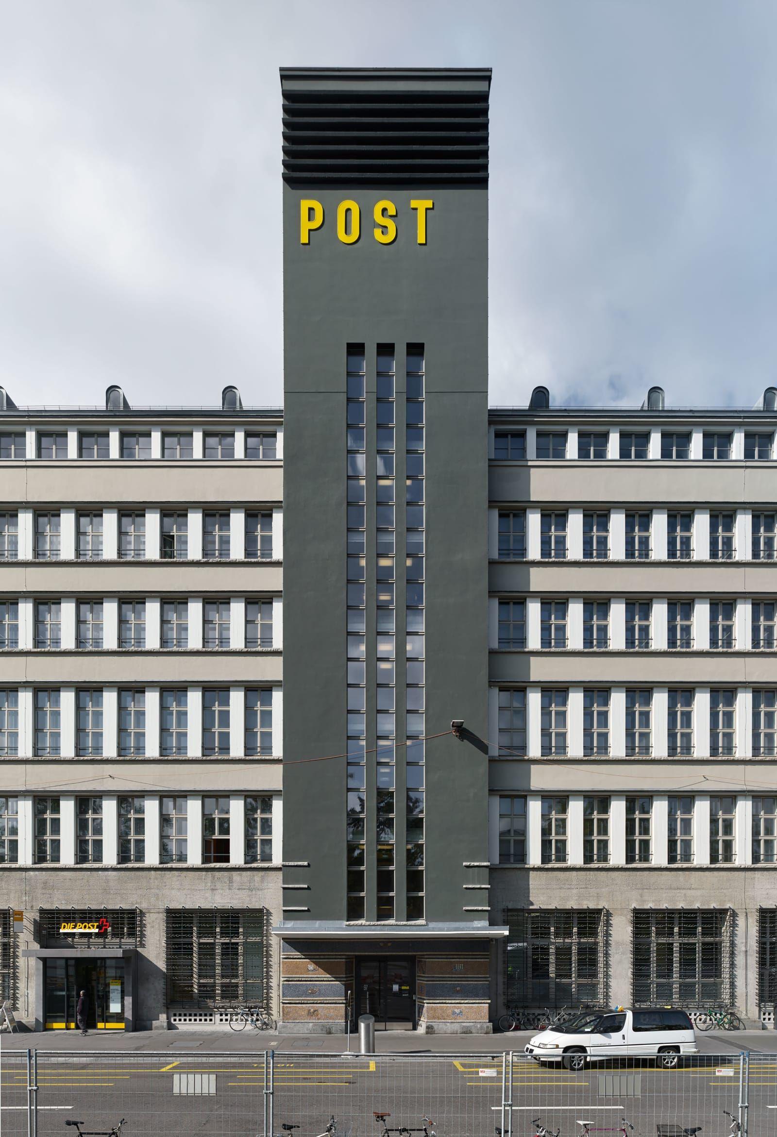 Max Dudler Architekt, Stefan Müller · Sihlpost Facade