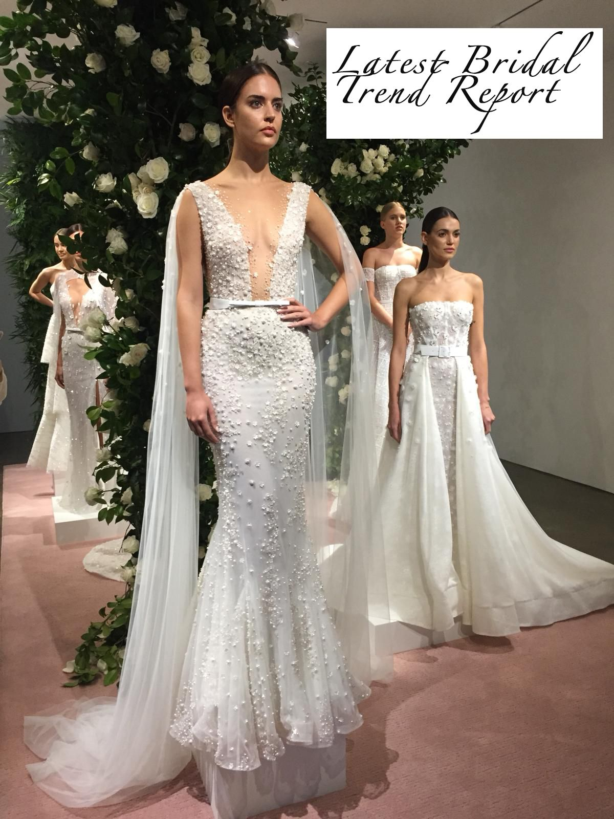 632fcb4b6d9d Get the latest wedding dress bridal trend report live from the 2019 New  York Bridal Fashion Week #NYBFW. Featuring Lee Grebenau at Spina Bride, ...