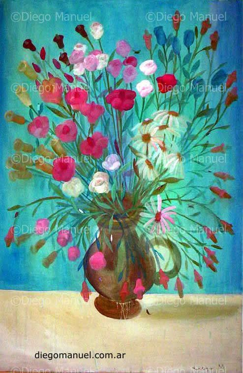 """ Gran florero 5"" , acrylic on canvas, 65x 100cm. 2000"