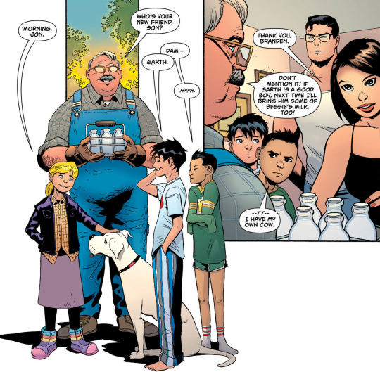 precious just for the fact that damian is dressed like a normal kid