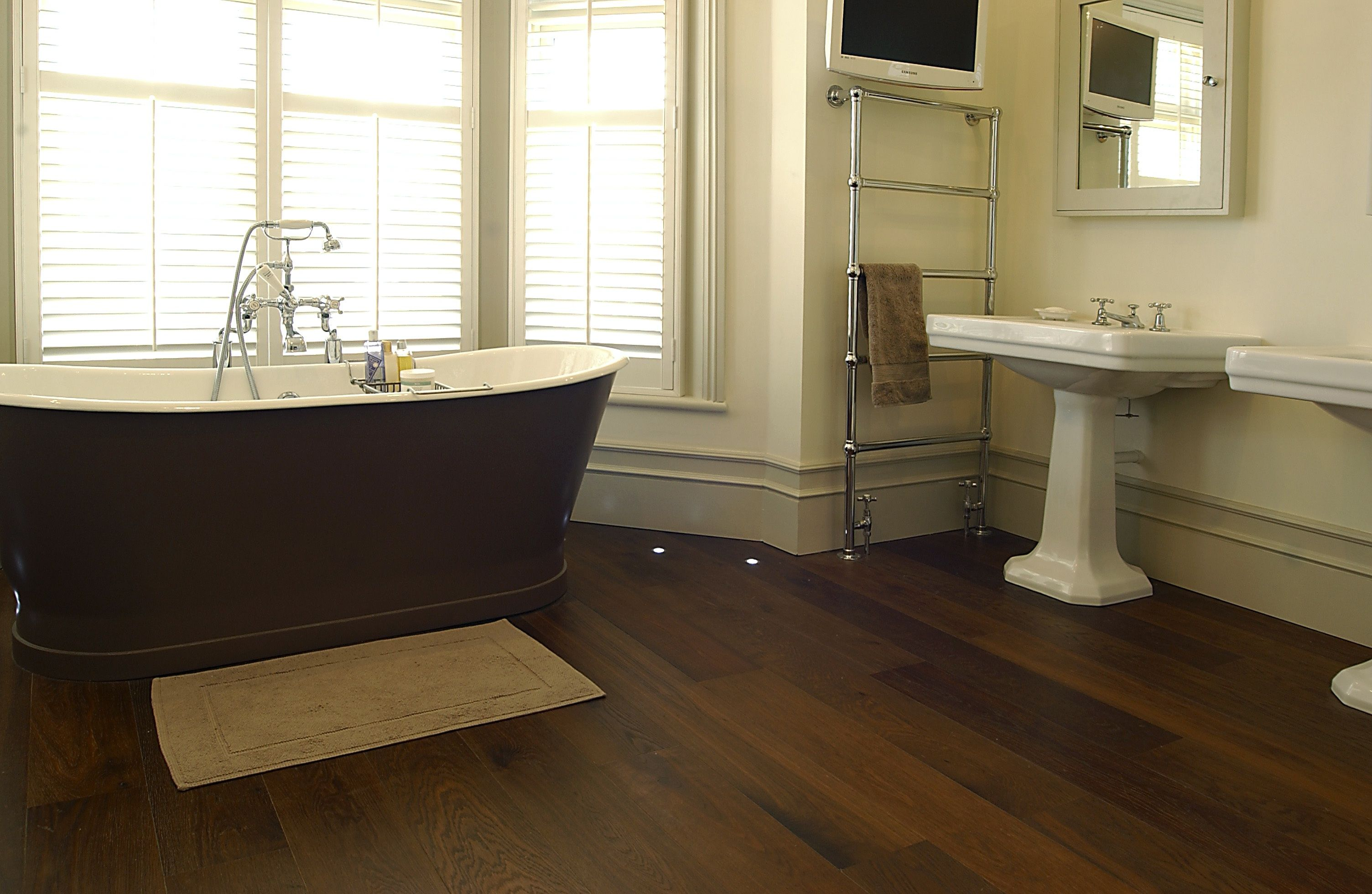 Should you install hardwood flooring in your bathroom