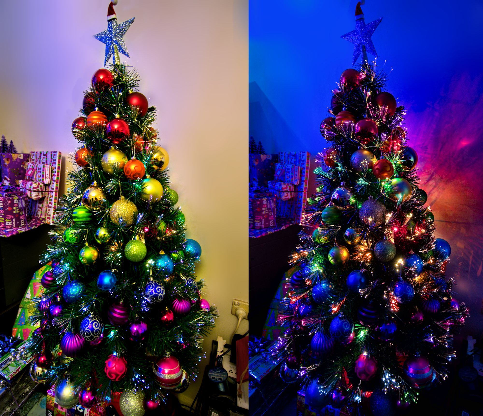 Rainbow Christmas Trees: Rainbow Ombre Christmas Tree!!