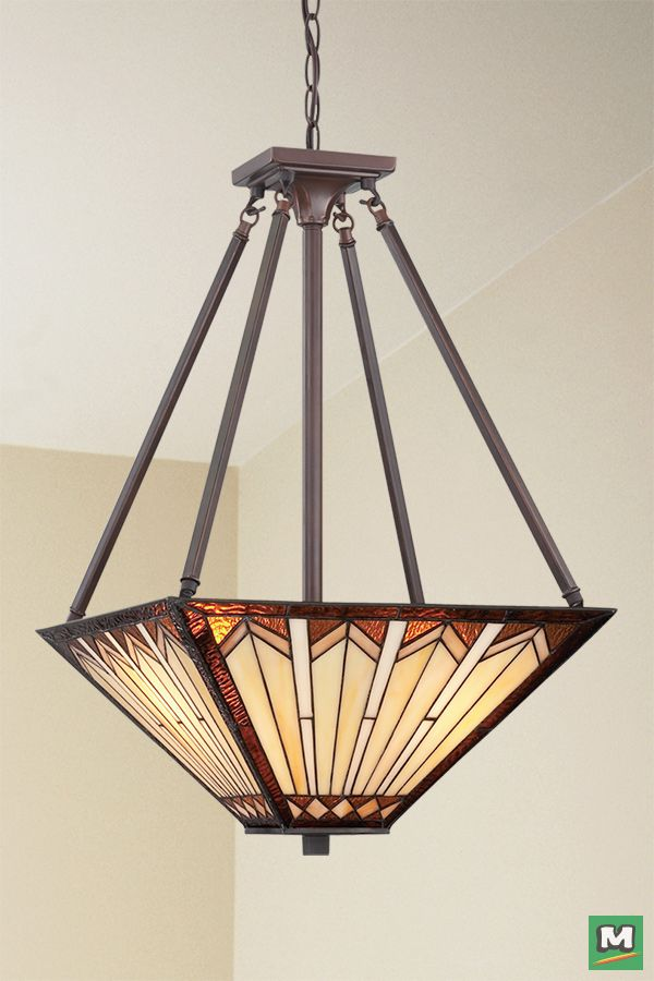 Patriot Lighting Craftsman Pendant With Russet Finish And Tiffany Style Glass Ceiling Lights Lighting Tiffany Style