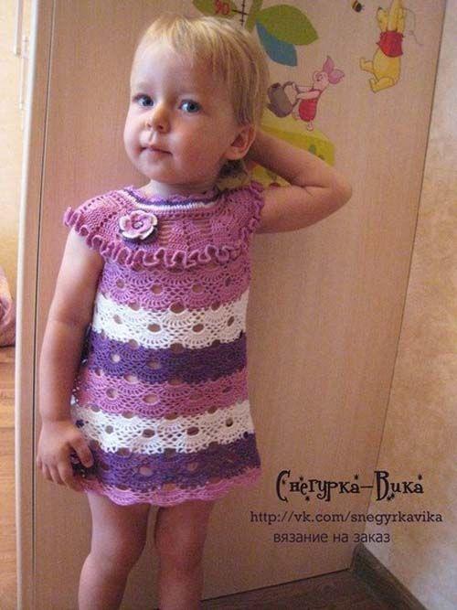 Patron gratis vestido a crochet para niñas de 1 a 3 años03 ...
