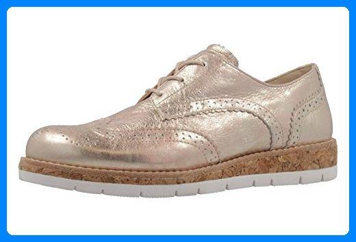 GABOR comfort Damen Halbschuhe Rosa Metallic Schuhe in