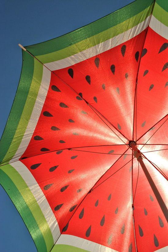 """ART PRINT / MINI (7"""" X 10"""") - Watermelon Umbrella"""