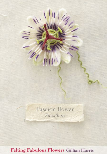 Felted Passion Flower From Felting Fabulous Flowers By Gillian Harris Http Www Lovecrafts Co Uk Books Felting Fabulous Flo Passion Flower Passiflora Flowers