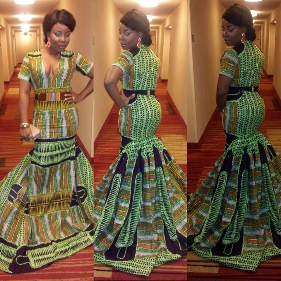 African fashion Original Bustle Dress repinned by ...