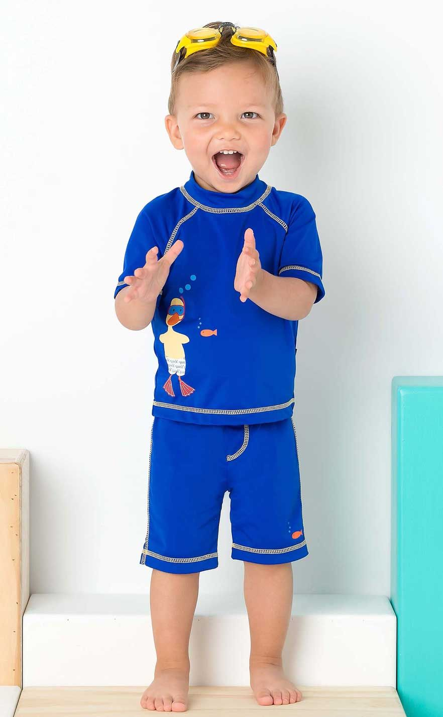 This Awesome Duck Swim Shirt And Swim Trunk Set For Infant
