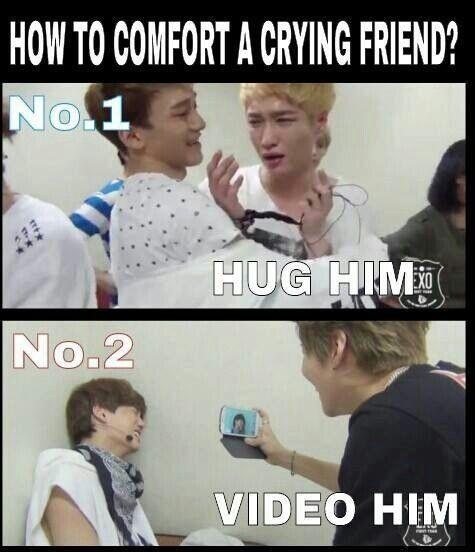 Good friends hug a crying friend, best friends video them ...