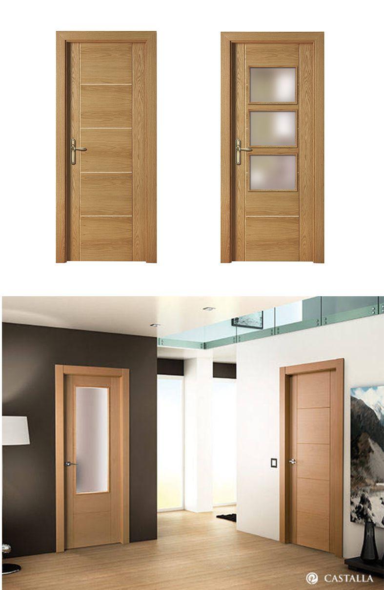 Puerta de interior clara modelo zafiro de la serie euro - Modelo de puertas de madera ...