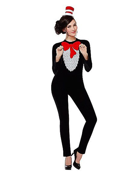 Cute office appropriate Halloween costume. Adult Cat In The Hat Costume -  Dr. Seuss - Spirithalloween.com e2cdca06e