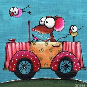 The Vintage Car by Lucia Stewart