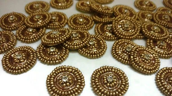 Beaded Appliques Floral Pattern Decorative Applique Sewing Crafting By 1 Dozen