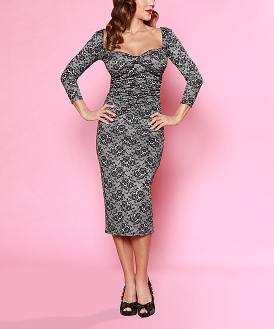 Bettie Page Black Floral Sweetheart Dress - Plus Too by Bettie Page #zulily #zulilyfinds