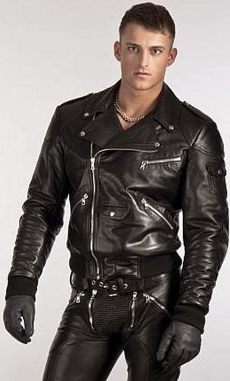 Men leather gay