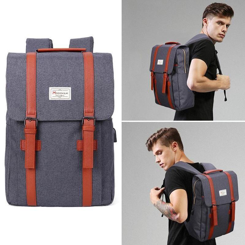 2017 Tigernu Brand External USB Charge Backpack Male Mochila