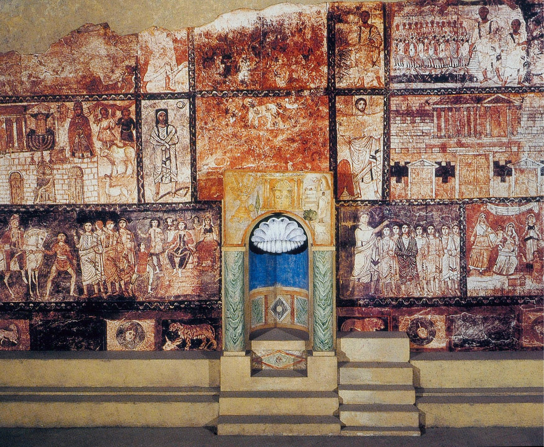 "3.32 ""interior West Wall Of Synagogue Dura Europos"