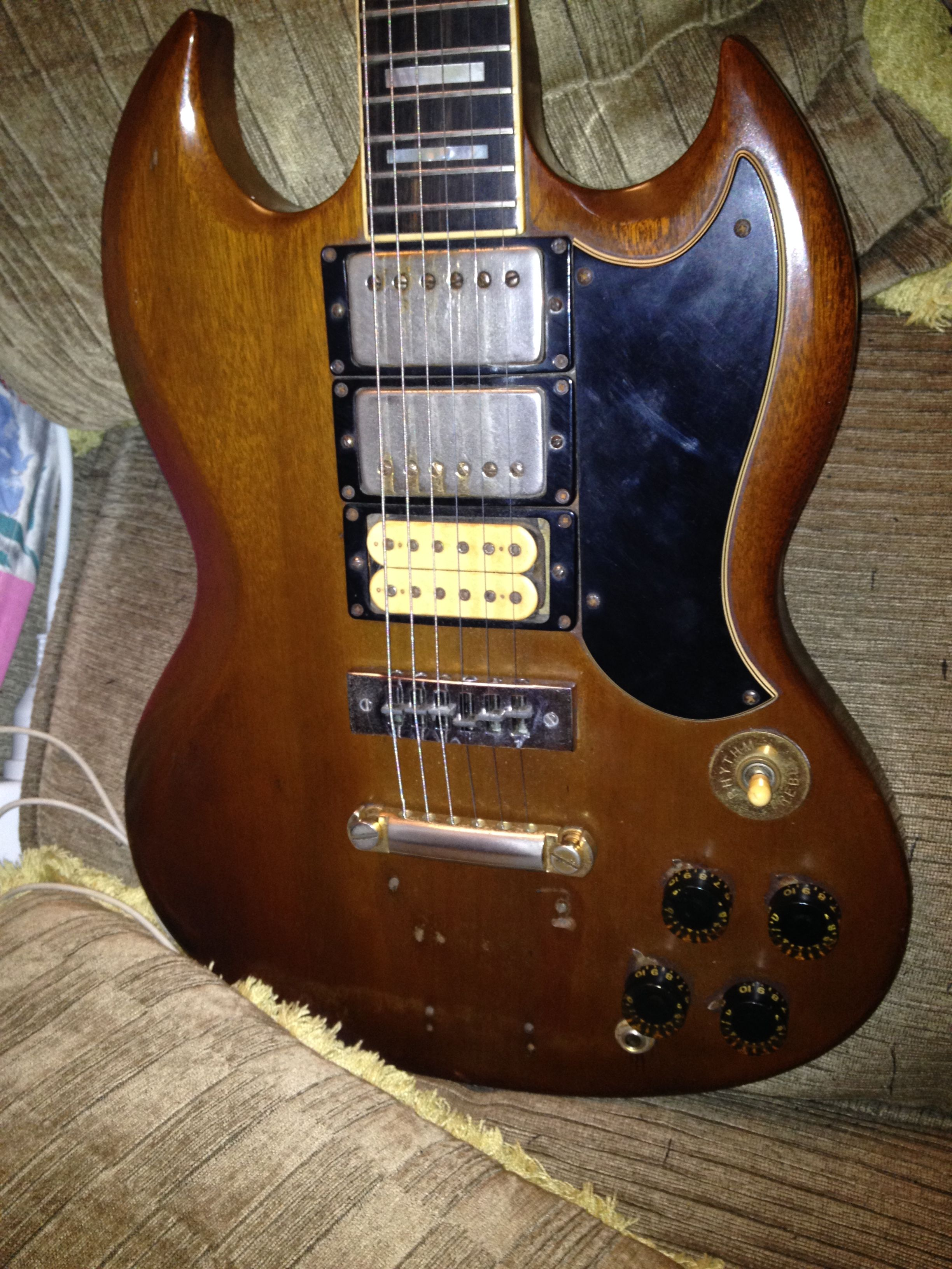 Dating Vintage Dimarzio Pickups Auto Electrical Wiring Diagram Of Tokairegistrycom View Topic Les Paul Modern My 1974 Gibson Sg Custom In Walnut With Original 70 U0026 39 S