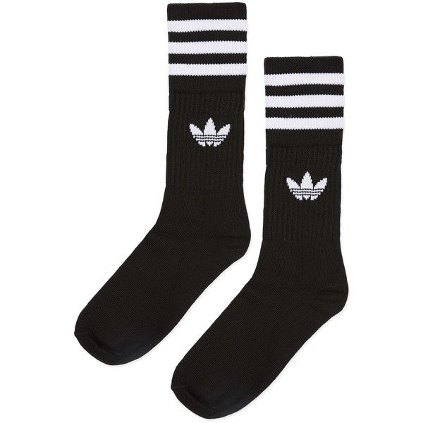 00dae9bdb Solid Crew Socks Multipack by Adidas Originals ($9.95) ❤ liked on Polyvore  featuring intimates, hosiery, socks, cotton crew sock, adidas, crew length  socks ...