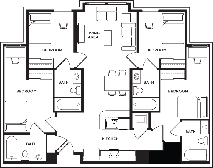 Floor Plans 1200 West Marshall Student Apartments In Richmond Va Floor Plans Student Apartment Student House