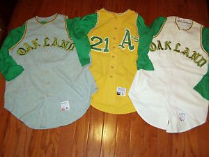 f6f0b9494 GAME USED 1968 OAKLAND A s VINTAGE FLANNEL BASEBALL JERSEY WORN RAMON  WEBSTER