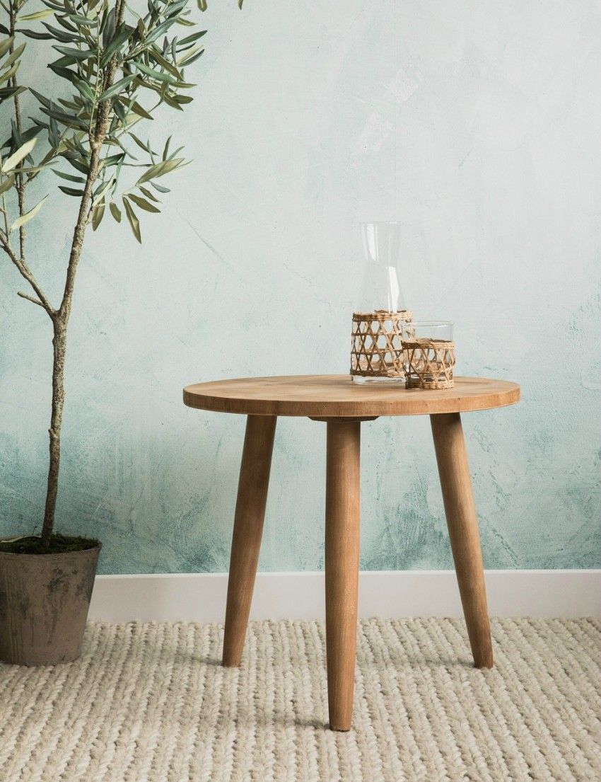 Round Wooden Side Table At Rose Grey Stylish Side Table Wooden Side Table Round Wooden Bedside Table #round #living #room #side #tables