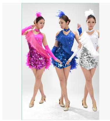 317cae15319f Child Latin Dance Dresses For feather style Cha Cha Rumba Samba ...