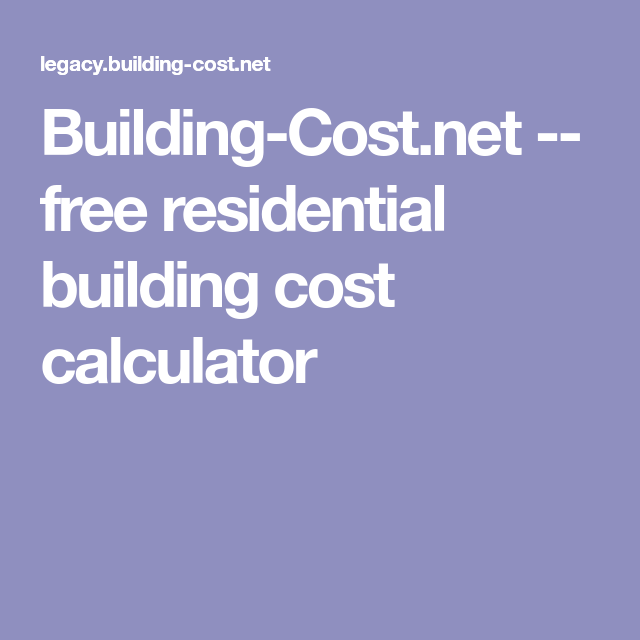 Building Cost.net    Free Residential Building Cost Calculator