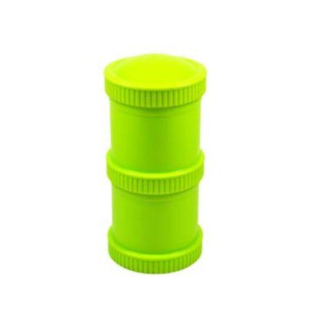 Re-Play Baby Food Storage Container, Stackable, 6 oz, Green, 2 pack