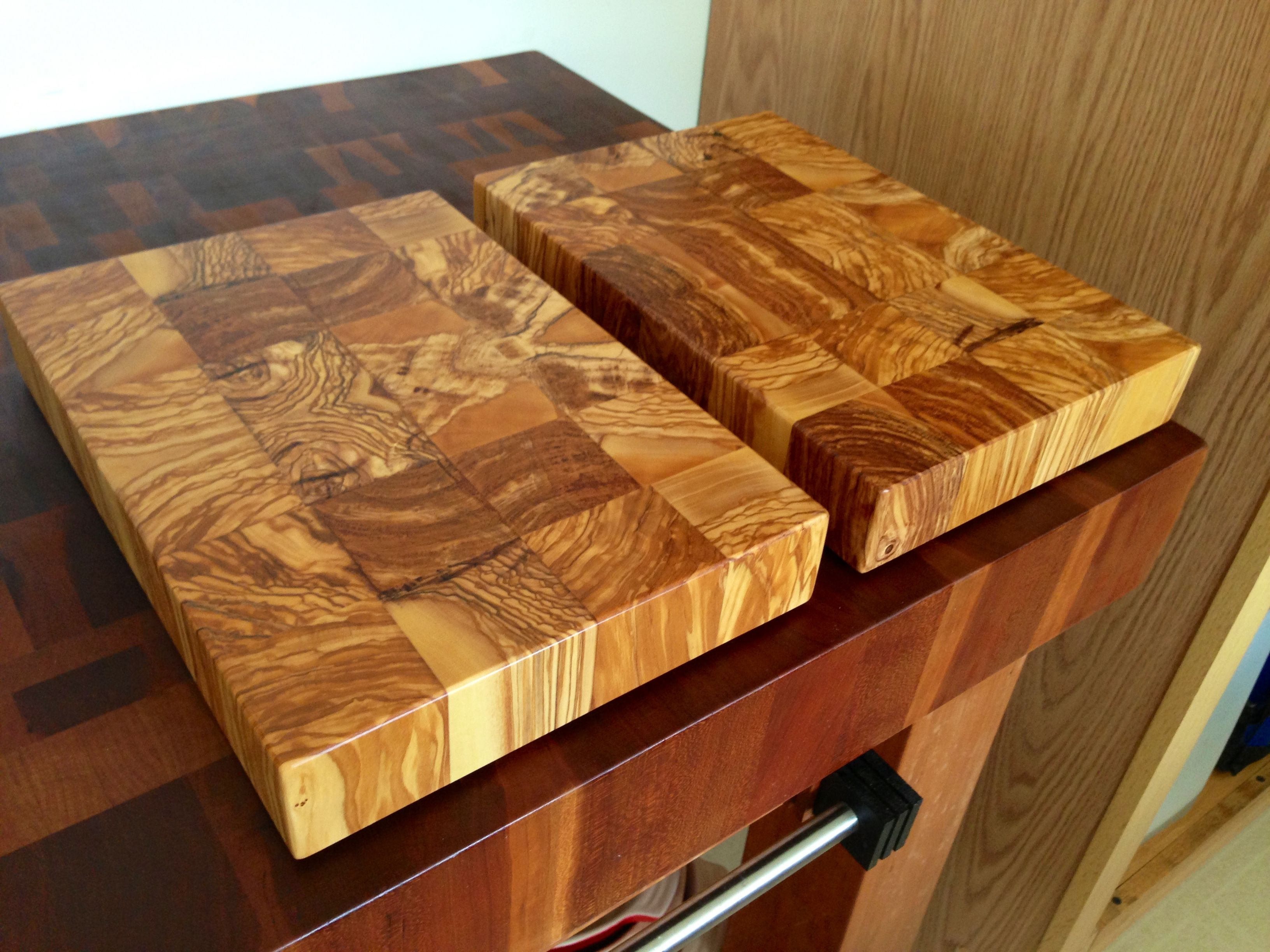 Olive Wood End Grain Cutting Boards