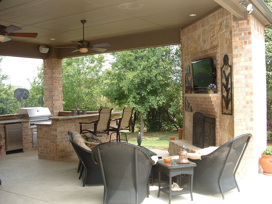 Outdoor kitchenbar arealiving room from