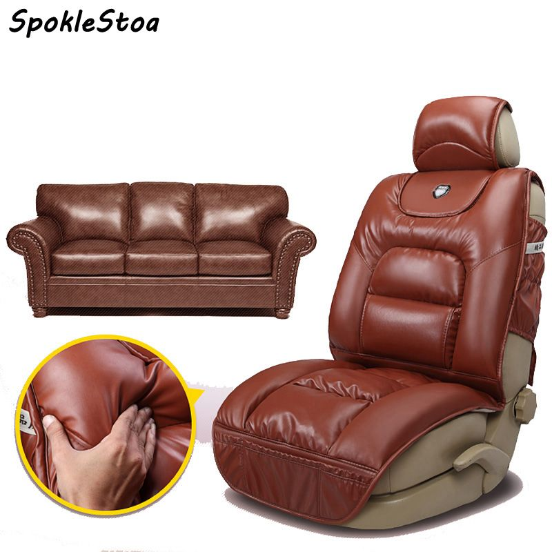 Pu Leather Winter Car Seat Cushion Full Thick Seats Cushions For Bmw X5 Keep Warm Covers Cover Benz S
