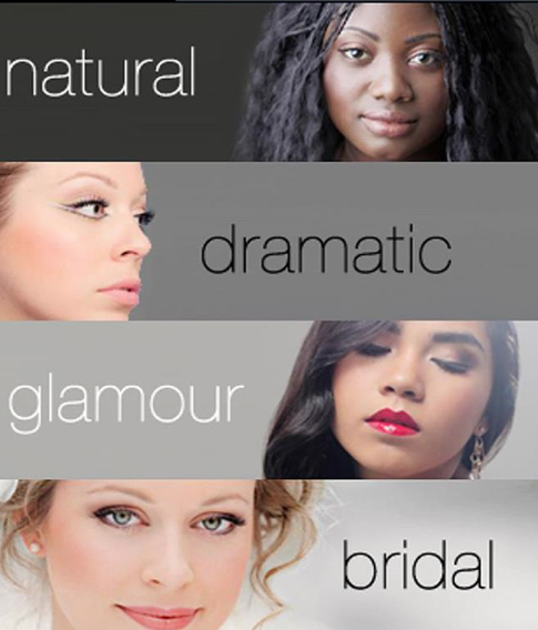 The Beauty Mark App for iPhones and iPads lets users create their own custom look with a tap and a swipe and then watch video tutorials on how to achieve the looks.  Choose your skin tone and then one of these 4 style categories for: natural makeup, dramatic makeup, glamourous makeup, or bridal makeup.
