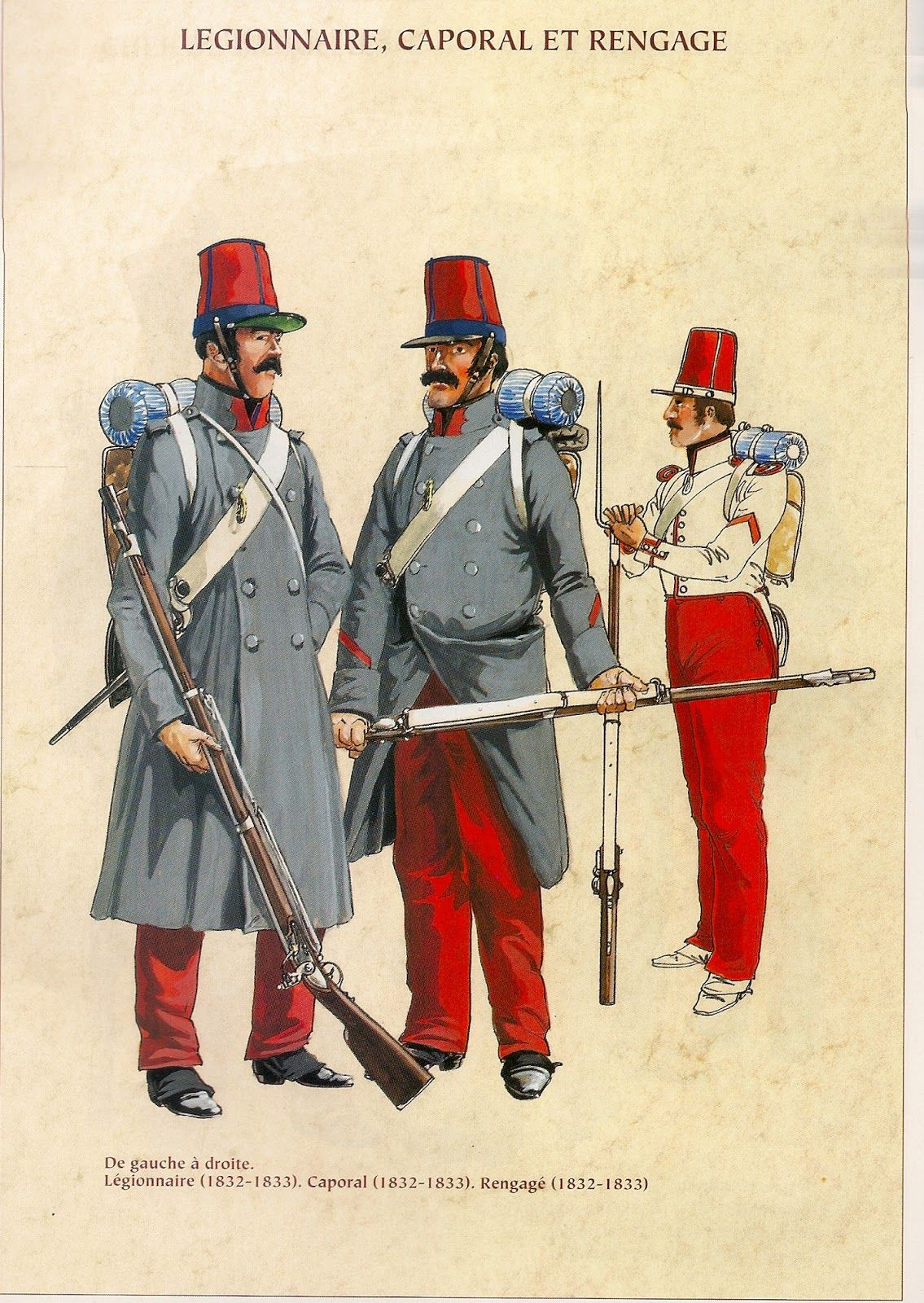 French Foreign Legion Legionaire Corporal Rengage 1832 33