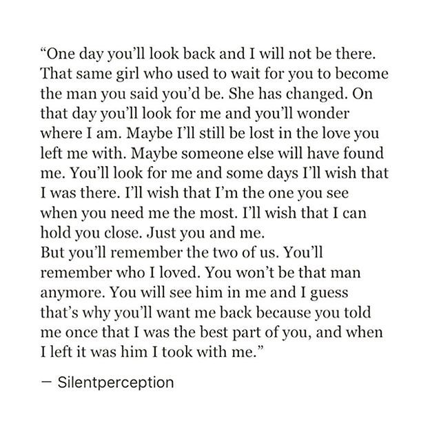One day you'll look back