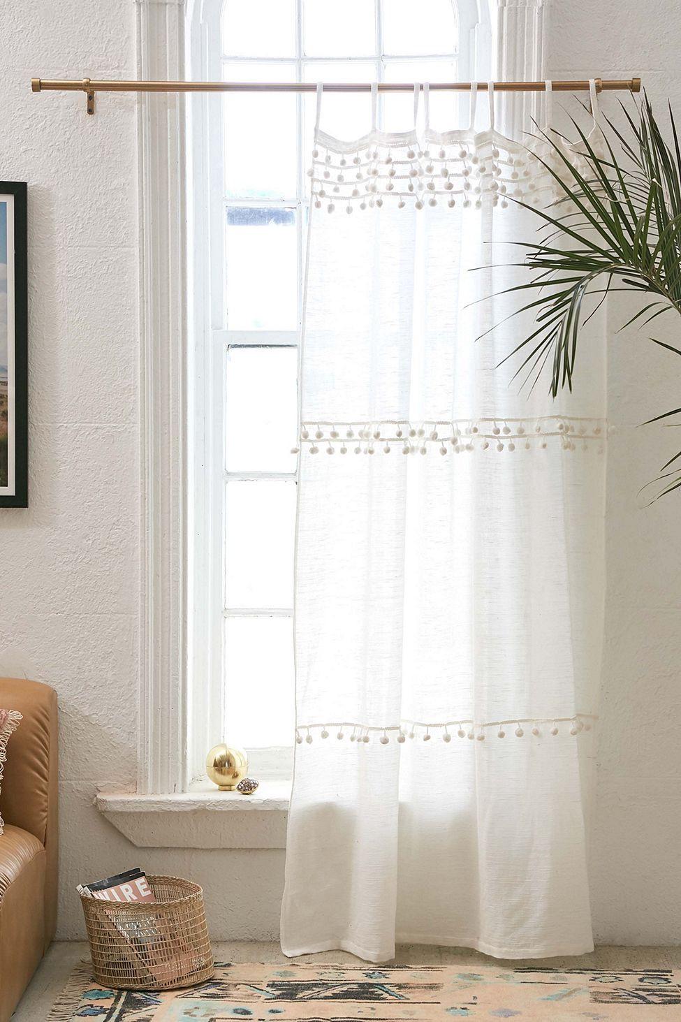 Averi pompom gauze window curtain by urban outfitters in