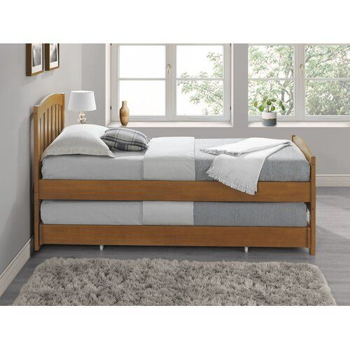 Sheryl Daybed With Trundle August Grove Colour Oak Bed Frame