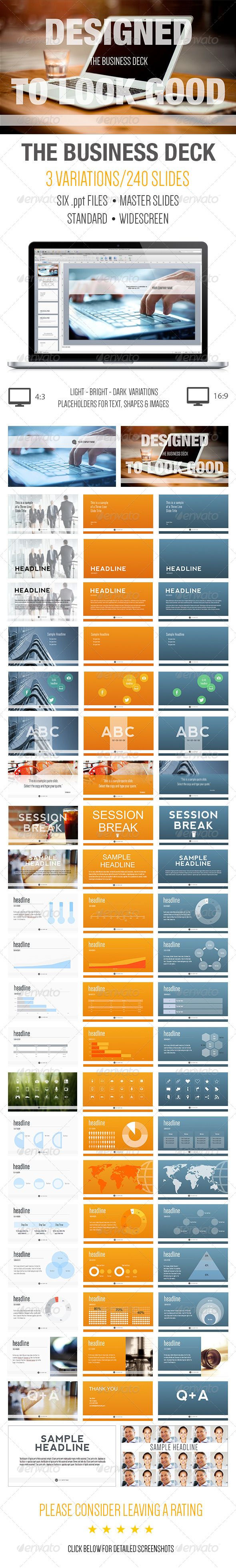 The business deck a powerpoint template pinterest template the business deck a powerpoint template flashek Image collections