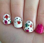 Photo of roses and dots by bribri_94  Nail Art Gallery nailartgallery.na by Nails Mag